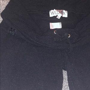 Wildfox large black soft flare super soft pant